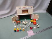 Fisher Price Little People Play Family Farm Barn 915 Cc Tractor Cow Horse Sheep