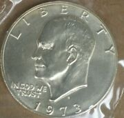 1973-s Eisenhower Uncirculated 40 Silver Dollar Coin M-2729