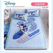 Disney Mickey Minnie Mouse Summer Sleeping Bed Mat Washable Bed Topper Sheet