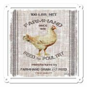 Farmhand Feed Poultry Cindy Jacobs Home Decor 24 Heavy Duty Usa Made Metal Sign