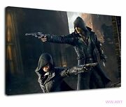 Assassins Creed Syndicate Pistols Pc Game Ps4 Canvas Wall Art Picture Print