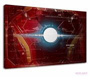 Iron Man Arc Reactor On Chest Plate Conceptual Art Canvas Wall Art Picture Print