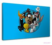 The Looney Tunes Legends For Kids Bedroom Canvas Wall Art Picture Print