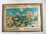 Antique Old India Gujrat Holy Place Girnar Jain Temple Map Print Frame 14 X 10