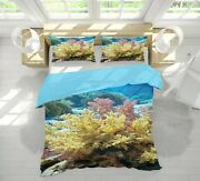 3d Yellow Coral Nao1871 Bed Pillowcases Quilt Duvet Cover Set Queen King Fay