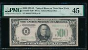 Ac 1934a 500 Five Hundred Dollar Bill New York Pmg 45 Comment