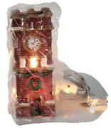 1995 Dickens Collectables Towne Series Porcelain Clock Tower