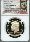 2021 S Clad Kennedy Half Dollar First Releases Ngc Pf70 Ultra Cameo Portrait