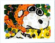 Tom Everhart Ten Ways Andagrave Drive Un Suv Peanuts Snoopy Lithographie Main Signandeacutee