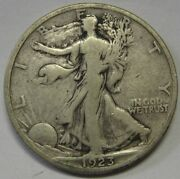 1923-s Walking Liberty Half Grading Fine Nice Uncleaned Coin Priced Right O14