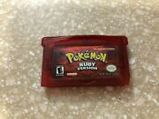 Pokemon Ruby Version Game Boy Advance Authentic Tested Cartridge Only Save