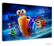 Turbo The Snail Fantasy Art For Kids Bedroom Canvas Wall Art Picture Print