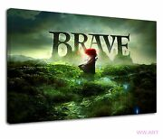 Brave An Animation Movie The Meaning Of Bravery Canvas Wall Art Picture Print