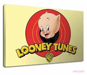 Porky Pig From Looney Tunes For Kids Bedroom Canvas Wall Art Picture Print