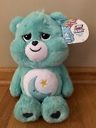 2020 Care Bears Bedtime Bear Plush 16 Collectible Coin Moon Star Large