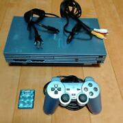 Sony Playstation 2 Aqua Blue Limited Edition Console Ps2 Scph-39000 From Japan
