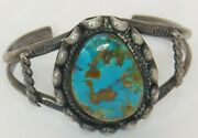 Wow Navajo Ladies Royston Turquoise Bracelet Cuff Sterling Silver 37g Old Pawn