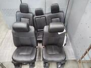 2011-2016 Ford F350sd Front And Rear Seat Set Bucket Leather Oem 2015