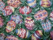 Longaberger Rare Retired Easter Egg Grass Fabric-half Yard-last One Available