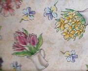 Longaberger Rare Retired Early Blossoms Fabric-half Yard-new-shop Our Store