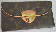 Louis Vuitton Brown Eugenie Monogram Leather Credit Card/id Long Wallet Ml2057