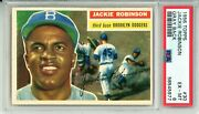 1956 Topps Jackie Robinson Gray 30 Psa Grade 6 Ex-mt Cond. @hi-end Fresh Find