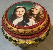 Wizard Of Oz Ruby Slippers Trinket Music Box Over The Rainbow Vintage Mint
