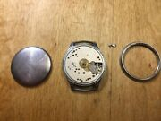 Very Rare Watch Alpina D Vintage Military 40 -50 Years Black Dial Kal.592