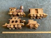 Large Vintage Wood Train  Maker Unknown Homemade