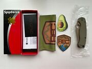 Spyderco Paramilitary 2 Od Cts-204p C81gpodfde2 Exclusive With Deep Carry Clip