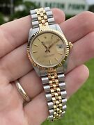 Rolex 68273 Midsize 31mm Champagne Dial Datejust Watch