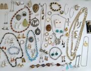Vintage Necklace Earings Rings Costume 71 Jewellery Joblot Bundle Collection