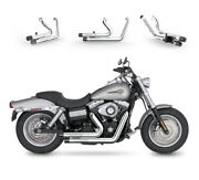 Fit For Harley 2006-17 Dyna Fxdb F C W G Wide Glide Chrome Exhaust Smashing Gear