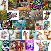 Diy Animal Paint By Numbers Kit Acrylic Digital Oil Painting On Canvas Decor