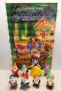 Vintage Snow White And Seven Dwarfs Figurines - Japan And Movie Poster
