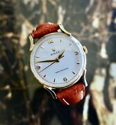 A Beautiful Vintage 1955 Mid-size Rolex Precision With Fancy Lugs In 9ct Gold