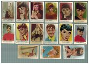 Collection Lot Audrey Hepburn Vintage Trading Cards 15 Items 1950s Excellent