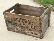 Brewery Wooden Beer Crate Manitowoc Products Co Closed 1933 Wisconsin Wood Box