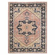 9and039x11and03910 Coral Supple Collection Heris Design Hand Knotted Pure Wool Rug G62216