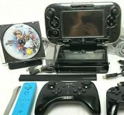 Nintendo Wii U Console Gamepad Pro Controllers Cables Mario Smash Bros Tested