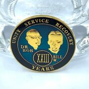 Sobriety Anniversary Coin Enamel Dr. Bob And Bill W. 23 Years