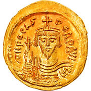 [895769] Coin Phocas Solidus 607-610 Constantinople Ms64 Gold Sear620