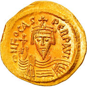 [895768] Coin, Phocas, Solidus, 607-610, Constantinople, Ms64, Gold, Sear620