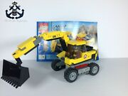 Lego City / Town Excavator Transport Excavator And Figure Only Set 4203-1