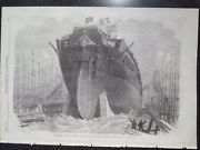 Attempt To Launch Frigate Northumberland At Mill Wall 1866 Illustrated London