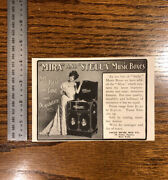 1904 Jacot Music Box Co Mira And Stella Vintage Antique Advertising Us