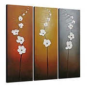 Wieco Art Extra Large Modern Contemporary Flowers Artwork 3 Panels Decorative On