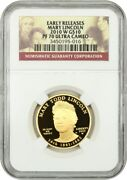 2010-w Mary Lincoln 10 Ngc Pr 70 Ucam -