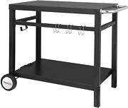 Royal Gourmet Double-shelf Movable Dining Cart Tablecommercial Multifunctional