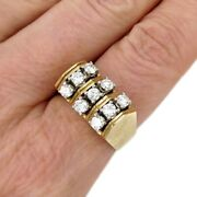 See Video Vintage Mens 1.00ct Diamond Ring In 14k Yellow Gold 10.5g Size 9.75